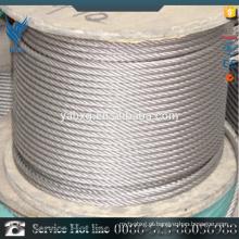 Melhor preço 7 * 7 AISI 304 plástico revestido fio de aço inoxidável haste