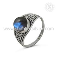 Espectacular anillo de plata de piedras preciosas de labradorita al por mayor 925 joyas de plata esterlina joyas de plata en línea hechas a mano en la India