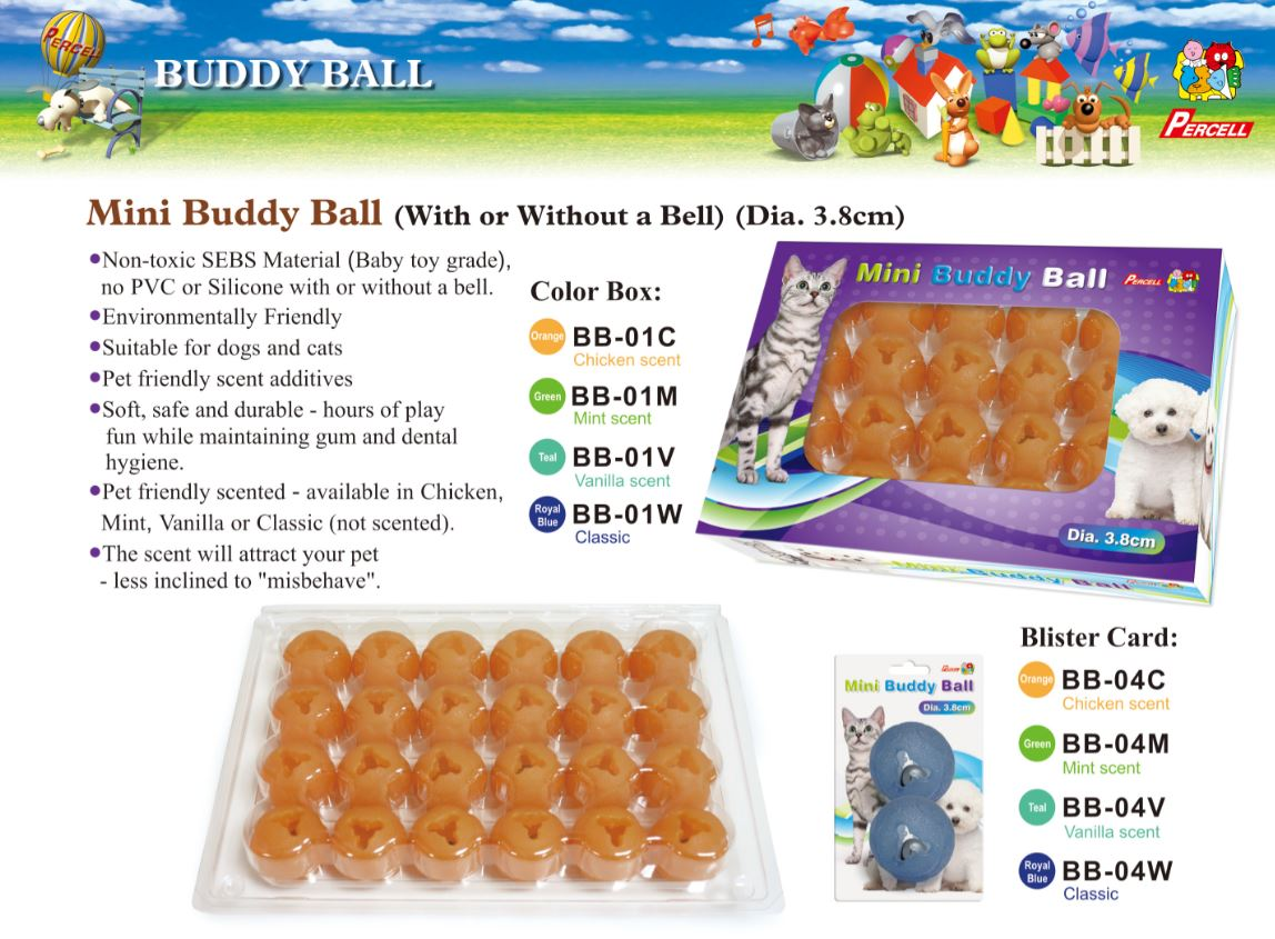 Mini Buddy Ball in box package