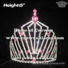 Wholesale Pageant Queen Crowns With Pink Diamomds