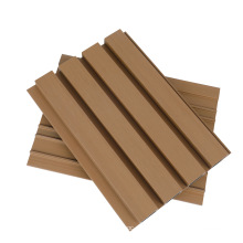 Factory Outdoor Waterproof Decor Composite Wood Plastic WPC Coating Capped Cladding Fluted Wall Board Exterior WPC Wall Panel