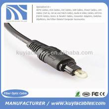 Цифровой оптический волоконно-оптический кабель Toslink Audio 3 м OD 2,2 мм