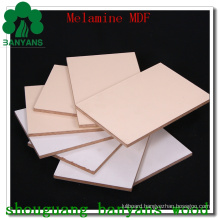 18mm Melamine Laminated MDF, Wood Grain and Solid Color Melamine Coated MDF Board