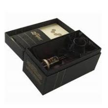 Boîte cadeau en carton en papier pour l'emballage du vin