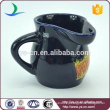 YScc0024-1 Melhor venda de leite de Natal de cerâmica Caneca Ice Cream Cup