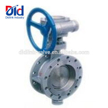 Shut Off Wafer 8 Gear Type Stainless Metal Seat Falnged High Temperature Butterfly Valve 6 Inch