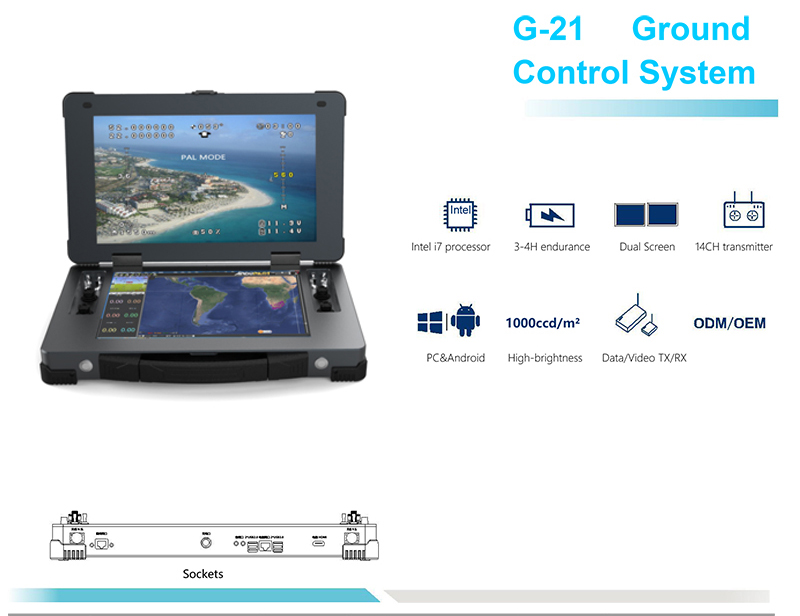 G21 Drone Dual Screen Ground Station-