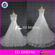 Real Sample Sweetheart Lace-Up Back Lace Appliqued Vestidos de noiva China