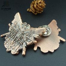 Crachá feito sob encomenda do metal do Pin da borboleta do bronze da antiguidade do logotipo para o presente relativo à promoção