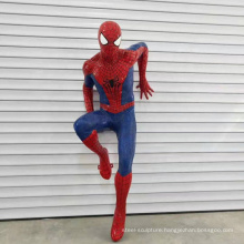 High quality fiberglass resin spiderman sculpture