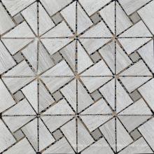 Triangle Mosaic Tile Gray Marble Stone Mosaic