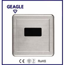 Pared oculta la válvula automática del urinio del sensor, placa de acero inoxidable ZY-1044