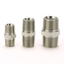 Stock items male bspt hydraulic straight nipple union hose tubing coupling