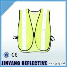 chaleco de seguridad reflectante de malla de 100% poliéster de alta visibilidad para niños
