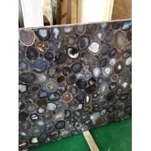 Losa de piedra de ágata gris