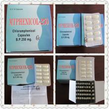 Cápsulas de cloramfenicol antibióticos