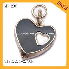 MC296 Heart shape metal key hang charm tag