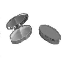 Boîte à pilule ovale en métal avec couleur argent / or (BOX-03)