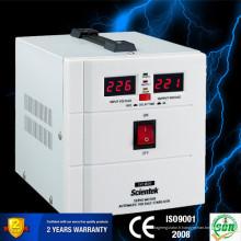 Monophasé Type de servomoteur Entrée 140 à 260V Sortie 220V 3% 1500va Stabilisateur de tension