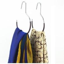 Enduit de PVC coloré simple écharpe Hanger