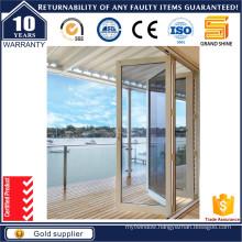 Aluminium Double Glazing Folding Door with High Quality
