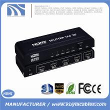 Prix d'usine 4K 3D 1080p Support 1 en 4 sorties HDMI Splitter Compatible HDCP HDMI Splitter 1x4 1.3V 1.4V