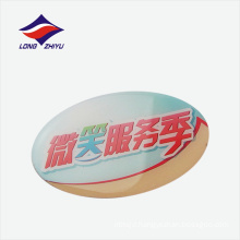 Oval shape lapel pin badge safety pin