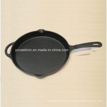 Preseasoned Gusseisen Bratpfanne China Factory Größe 30X4cm