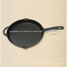 Preseasoned Cast Iron Frying Pan China Factory Size 30X4cm