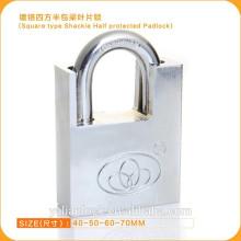 Esencial seguridad cuadrados tipo candado medio protegido candado