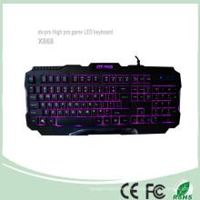 2016 Teclados más nuevos del teclado del juego del ordenador Teclados de la contraluz del LED (KB-1901EL)