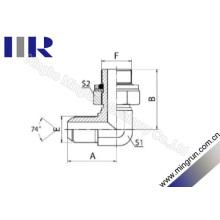 Macho métrico queimado / adaptador ajustável masculino métrico do tubo (1QH9-OG)