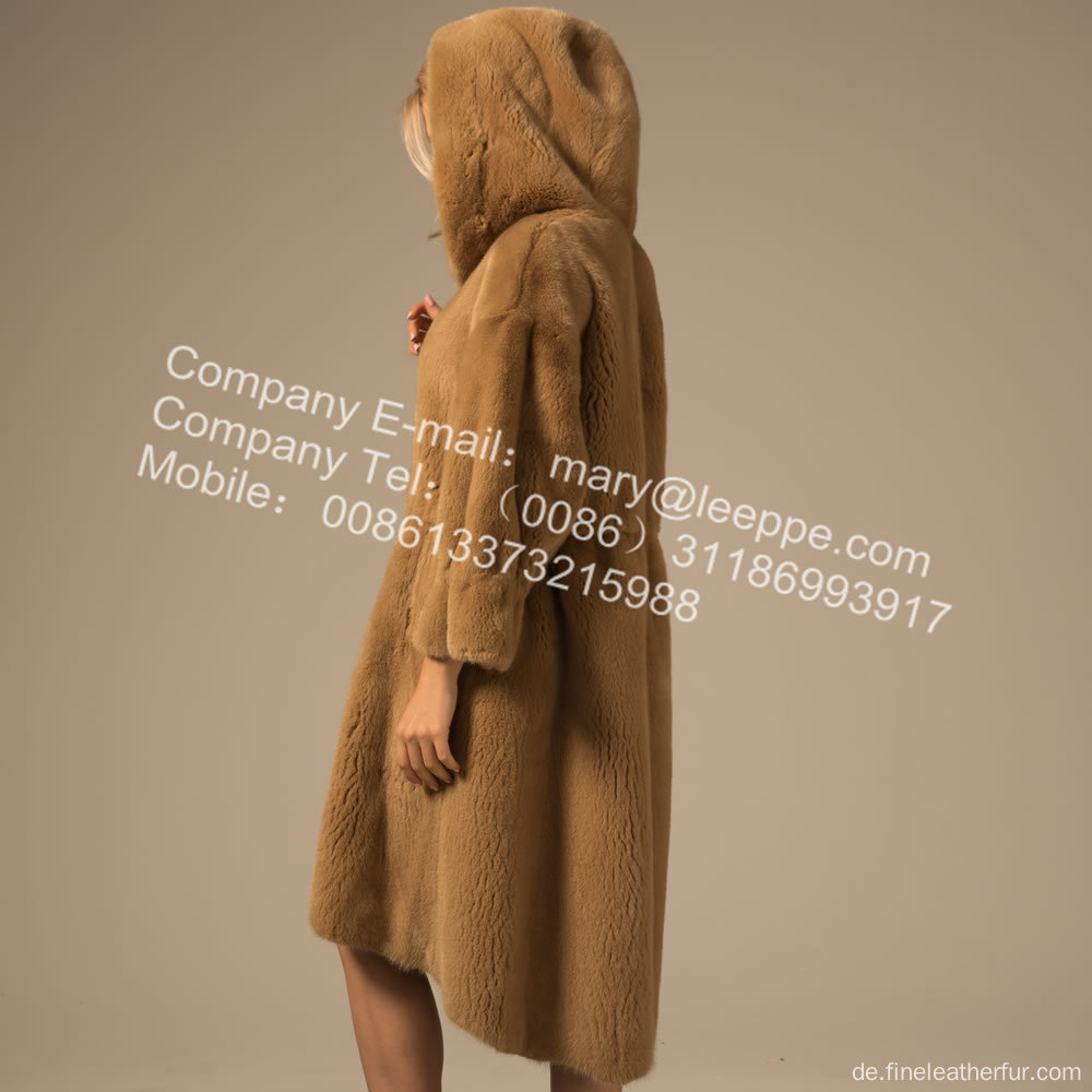 Winter Reversible Women Kopenhagen Mink Mantel