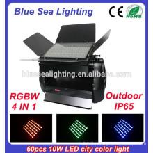 Фабрика цены высокой мощности DMX 60pcs 10w 4 в 1 RGBW привело цветной свет города