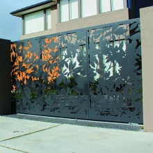 Laser Cut Fence Screens and Gate
