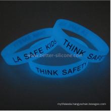 Fashionable Glow in The Dark Silicone Bracelet