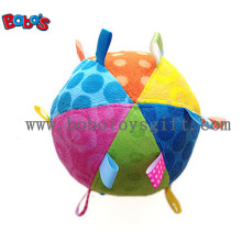 Safety Plush Baby Ball Toy Stuffed Infant Ball Toy with Colorful Ribbonbosw1056