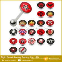Высокое качество логотип эпоксидной нержавеющей стали пользовательского языка кольца