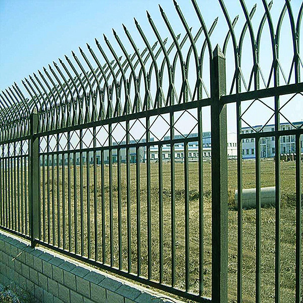 powder coated iron art fence