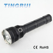 26650 Top de largo alcance de tres bombillas recargables de caza Led linterna antorcha