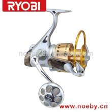 Full metal RYOBI big game surfing casting girando bobinas de pesca