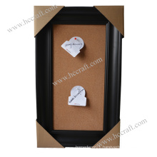 Wooden Home Decor with Cork Board