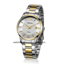 Sapphire Mirror Stainless Steel Quartz Couple Wrist Watch