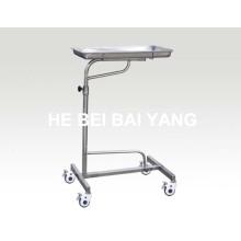 (B-42) Trolley do hospital de aço inoxidável para o instrumento de operação