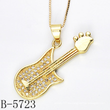 Colgante de la guitarra CZ de la plata esterlina del diseño 925 de la manera (B-5723)