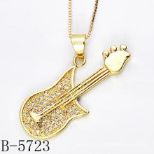 Pendentif en CZ de Guitare en Argent Sterling 925 Fashion Design (B-5723)