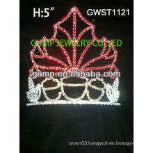 Charming Seasonal pageant custom rhinestone crown tiara -GWST1121