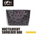 Bolsas com corrente para bolsa de ombro Noctilucent PU