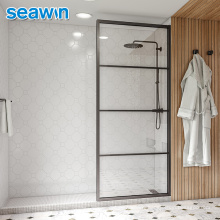 Lifetime Warranty Bathroom Hotel Bypass Frame Panels Tempered Single Shower Glass Door