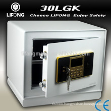 Security two key safe box with master code for keeping money and value goods